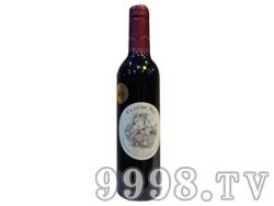 法国原瓶进口葡萄酒克劳德花堡干红375ml餐酒