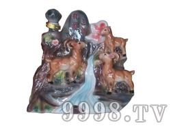 青花瓷工艺品系列-8斤珐琅三羊开泰