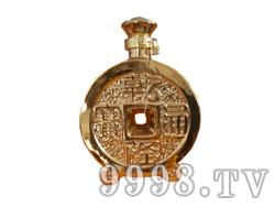 青花瓷工艺品系列-8斤烫金铜钱