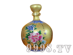 青花瓷工艺品系列-10斤点金牡丹