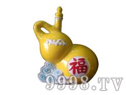 青花瓷工艺品系列-10斤珐琅黄葫芦