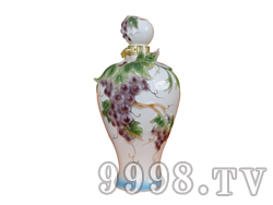 青花瓷工艺品系列-10斤珐琅葡萄梅瓶