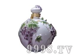 青花瓷工艺品系列-10斤珐琅葡萄圆瓶