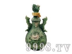 青花瓷工艺品系列-5斤珐琅双耳绿龙