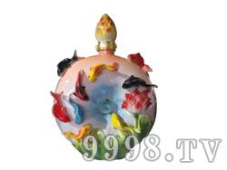 青花瓷工艺品系列-10斤珐琅群鱼
