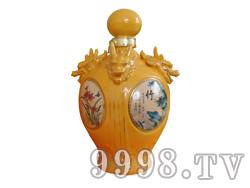 青花瓷工艺品系列-10斤四龙头梅兰竹菊