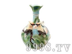 青花瓷工艺品系列-5斤珐琅双鸟