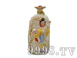 青花瓷工艺品系列-5斤珐琅四大美女(王昭君)