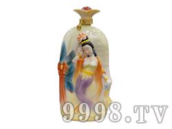 青花瓷工艺品系列-5斤珐琅四大美女(杨贵妃)