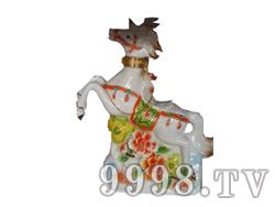 青花瓷工艺品系列-5斤如意马