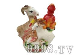 青花瓷工艺品系列-5斤三羊开泰