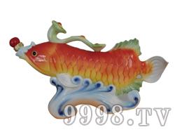 青花瓷工艺品系列-7斤珐琅如意鱼