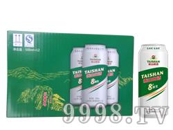 泰山8度原生啤酒500ML装