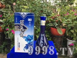 蓝花瓷 花开富贵