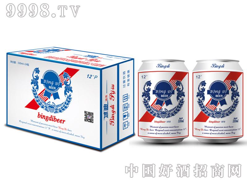 12度330ml冰迪啤酒易拉罐