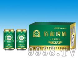 佰和口原酿啤酒330ml淡绿箱
