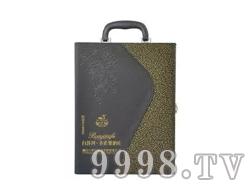 白洋河圣诺堡酒庄双支皮盒干红葡萄酒750ML*2