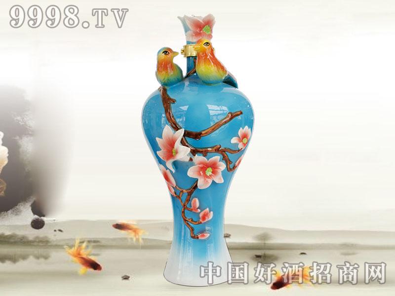 五福人家酒(鸳鸯瓶)