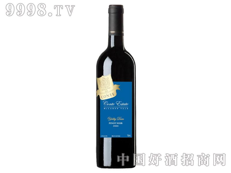 康特黑皮诺干红葡萄酒14°2008