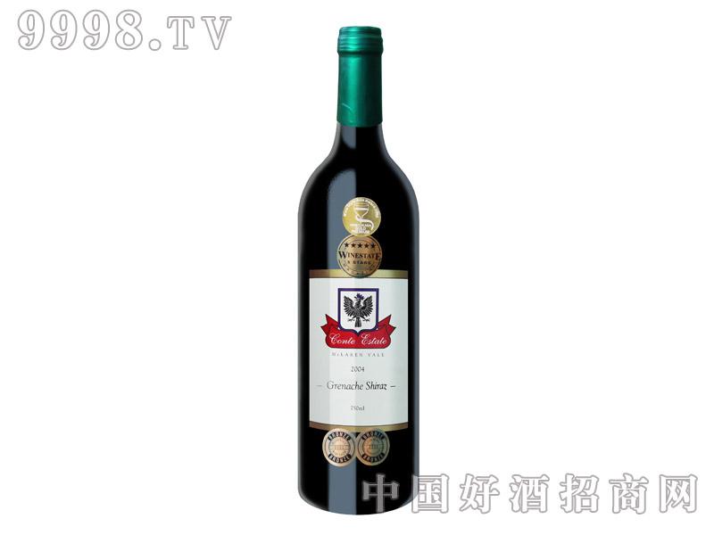 康特庄园歌海珊设拉子干红葡萄酒2004