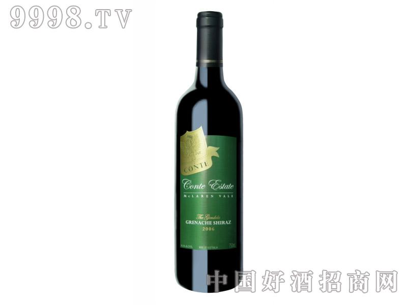 康特庄园戛纳歌海珊设拉子干红葡萄酒2006