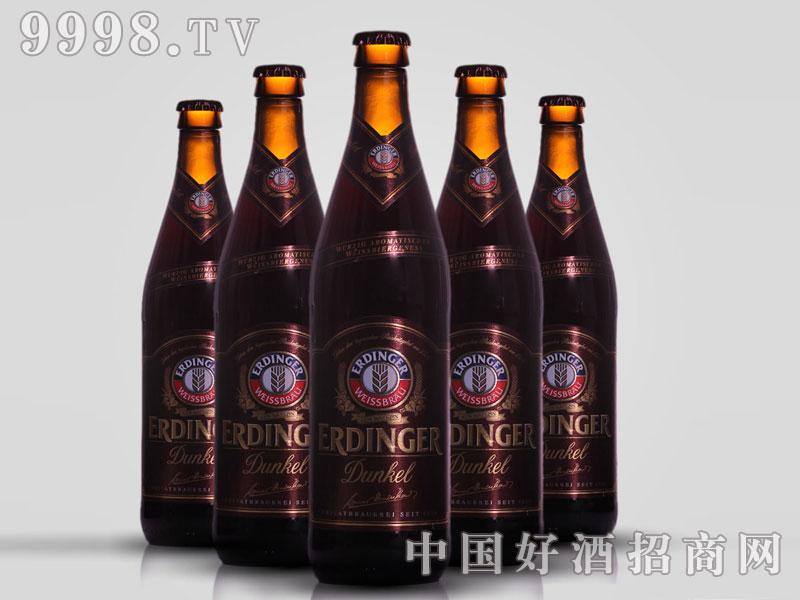 德国原装进口爱丁格小麦黑啤酒500ml瓶装