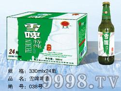 雪啤特纯啤酒330ml