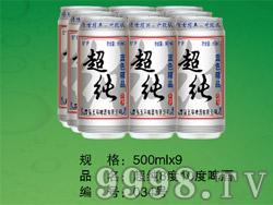 蓝色精品超纯啤酒8°10°500ml×9