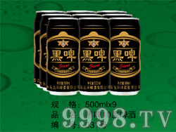 黑啤10度啤酒500ml×9