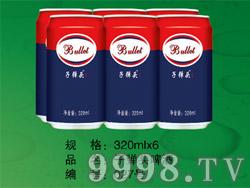 子弹头啤酒320ml×6