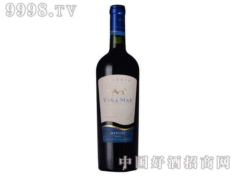 智利进口红酒-海洋酒庄珍藏梅洛葡萄酒