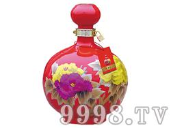 玉液春珍藏酒-红花瓷