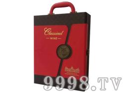 圣图酒堡双支皮盒红