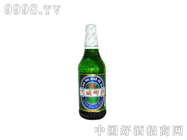 雪威精制啤酒