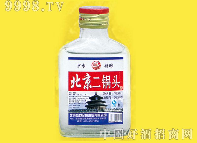 北京二锅头酒56度白瓶100ml