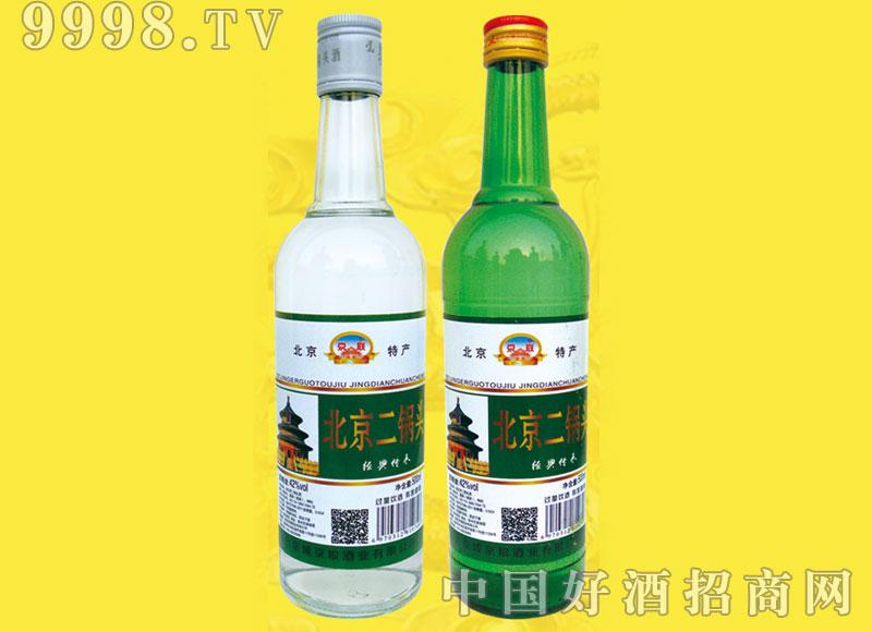 北京二锅头酒陈酿酒42度白绿瓶