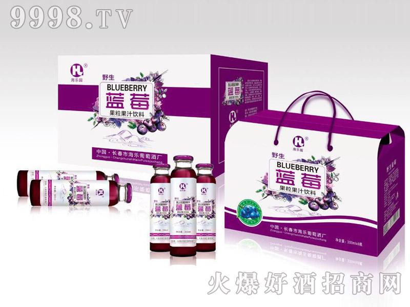 海乐野生蓝莓汁300mlx8瓶