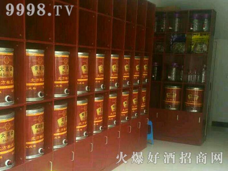 北方粮庄高粱酒坊展示台