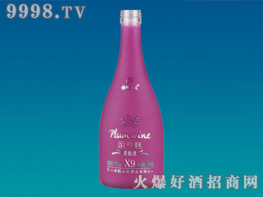 奥星喷涂玻璃瓶青梅酒YTP-119-500ml