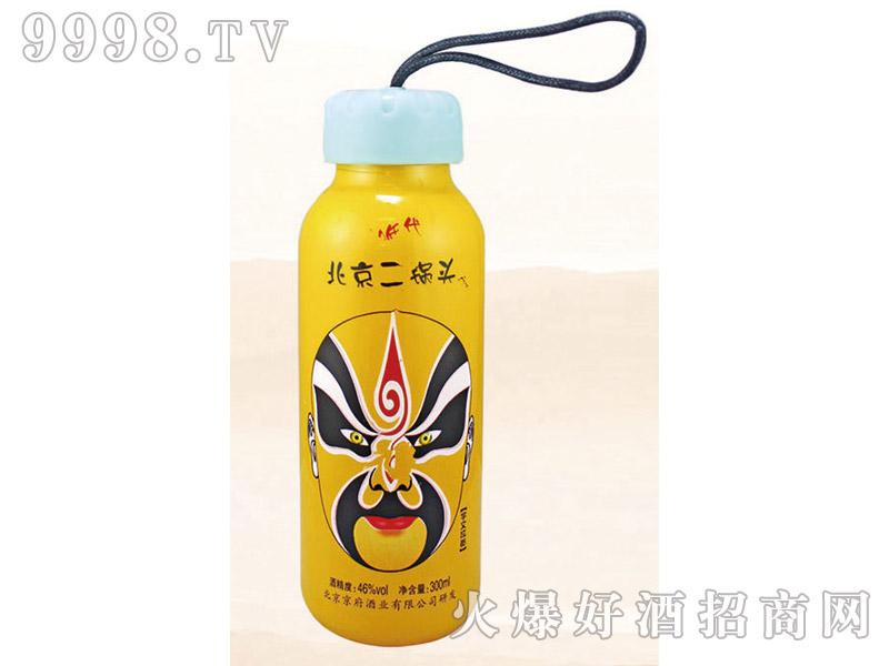 郓城龙腾包装口杯瓶系列K-010黄瓶脸谱北京二锅头