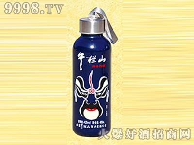 午拦山酒脸谱系列蓝瓶