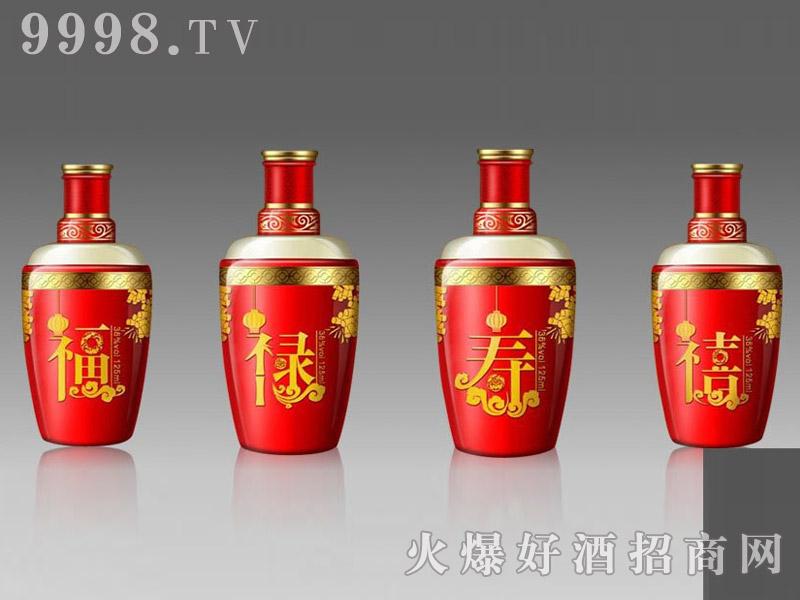 郓城鑫正包装精品小酒瓶FCX014福禄寿喜