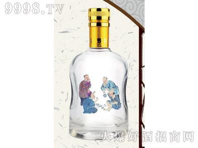 郓城鑫正包装烤花酒瓶FCK015金标