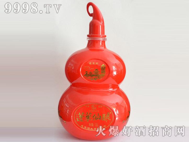 郓城龙腾酒坛系列jt-015蓬莱仙酿(红葫芦)
