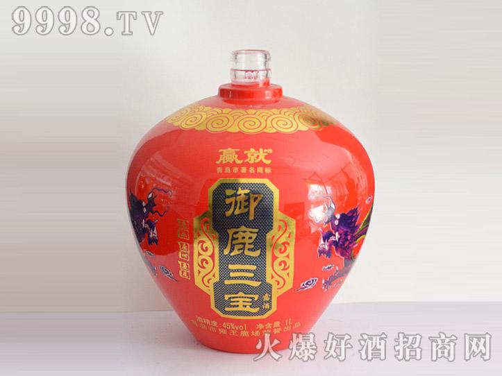郓城龙腾酒坛系列jt-014红坛御鹿三宝