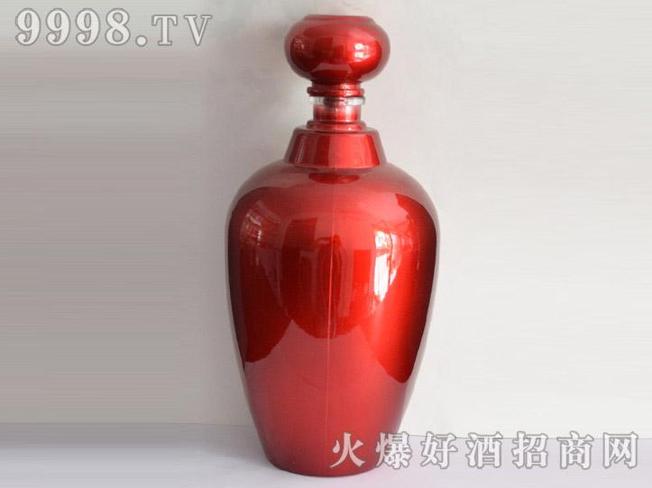 郓城龙腾酒坛系列jt-002彩釉红瓶