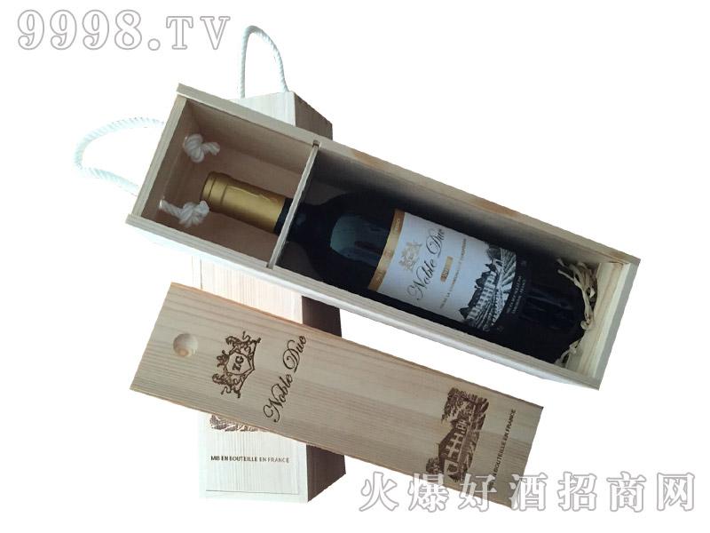 法国尊贵公爵单支木盒干红葡萄酒
