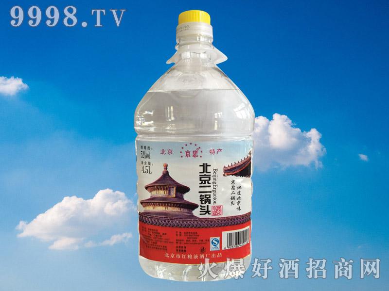 京忠北京二锅头酒52°4.5L(桶装)