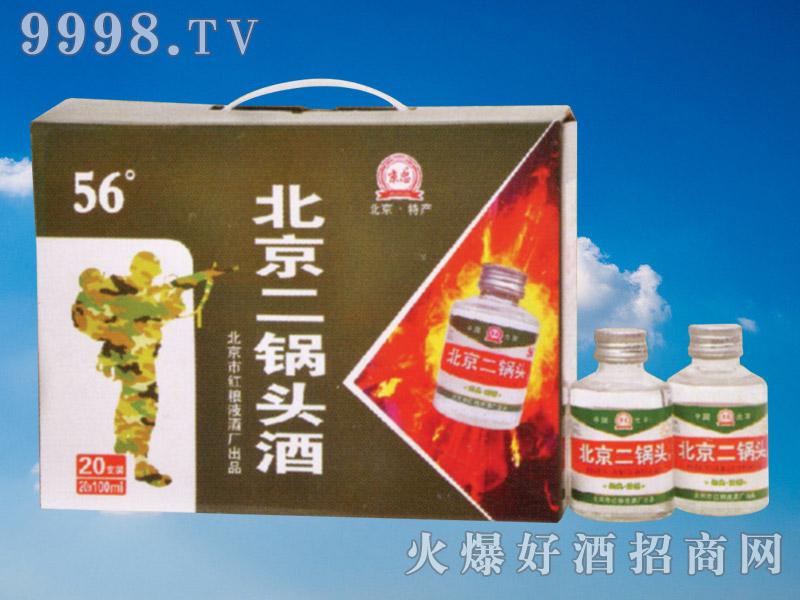 京忠北京二锅头酒100ml×20瓶