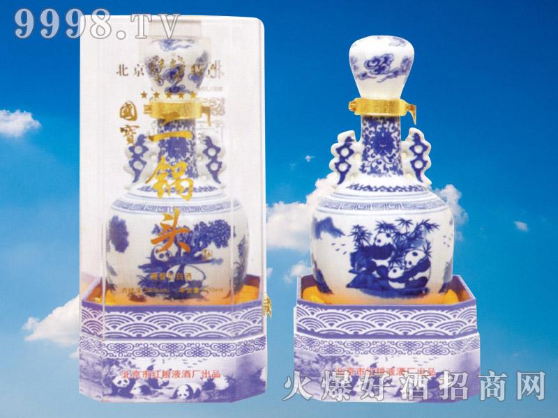 京忠北京二锅头酒蓝花瓷